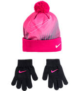Kids' Nike Pom Beanie and Gloves Set