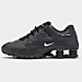Right view of Men's Nike Shox NZ EU Running Shoes in Black/White/Black