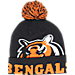 Front view of New Era Cincinnati Bengals NFL Colossal Team Knit Hat in Team Colors