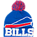 Front view of New Era Buffalo Bills NFL Colossal Team Knit Hat in Team Colors
