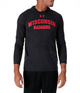 Men's Under Armour Wisconsin Badgers College TriBlend Hooded T-Shirt