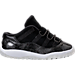 Right view of Boys' Toddler Jordan Retro 11 Low Basketball Shoes in Black/White/Metallic Silver