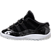 Left view of Boys' Toddler Jordan Retro 11 Low Basketball Shoes in Black/White/Metallic Silver