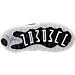 Bottom view of Boys' Toddler Jordan Retro 11 Low Basketball Shoes in Black/White/Metallic Silver