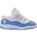 Right view of Boys' Toddler Jordan Retro 11 Low Basketball Shoes in White/University Blue/Black