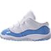 Left view of Boys' Toddler Jordan Retro 11 Low Basketball Shoes in White/University Blue/Black
