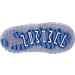 Bottom view of Boys' Toddler Jordan Retro 11 Low Basketball Shoes in White/University Blue/Black