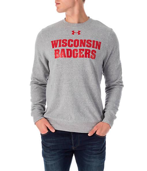 Men's Under Armour Wisconsin Badgers College Tri-Blend Crew Sweatshirt