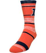 For Bare Feet Illinois Fighting Illini NCAA RMC Stripe Socks