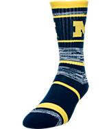 For Bare Feet Michigan Wolverines NCAA RMC Stripe Socks