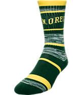 For Bare Feet Oregon Ducks NCAA RMC Stripe Socks