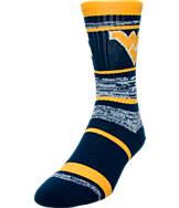 For Bare Feet West Virginia Mountaineers NCAA RMC Stripe Socks
