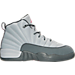 Right view of Girls' Preschool Jordan Retro 12 Basketball Shoes in Wolf Grey/Vivid Pink/Cool Grey