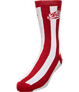Women's For Bare Feet Indiana Hoosiers College Candy Stripe Crew Socks