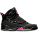 Right view of Girls' Grade School Jordan Son of Mars (3.5y - 9.5y) Basketball Shoes in Black/Anthracite/Hyper Pink