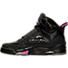 Left view of Girls' Grade School Jordan Son of Mars (3.5y - 9.5y) Basketball Shoes in Black/Anthracite/Hyper Pink