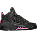 Right view of Girls' Preschool Jordan Son of Mars Basketball Shoes in Black/Hyper Pink/Anthracite