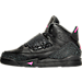 Left view of Girls' Preschool Jordan Son of Mars Basketball Shoes in Black/Hyper Pink/Anthracite