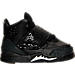 Right view of Boys' Toddler Jordan Son of Mars Basketball Shoes in Black/Metallic Silver/Anthracite