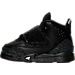 Left view of Boys' Toddler Jordan Son of Mars Basketball Shoes in Black/Metallic Silver/Anthracite