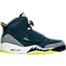 Right view of Men's Air Jordan Son of Mars Off Court Shoes in Armory Navy/Electrolime/White/Wolf Grey