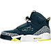 Left view of Men's Air Jordan Son of Mars Off Court Shoes in Armory Navy/Electrolime/White/Wolf Grey
