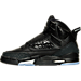 Left view of Boys' Grade School Air Jordan Son of Mars Basketball Shoes in Black/Metallic Silver/Anthracite