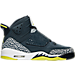 Right view of Boys' Grade School Air Jordan Son of Mars Basketball Shoes in Armory Navy/Electric Lime