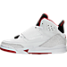 Left view of Boys' Preschool Jordan Son of Mars Basketball Shoes in White/Gym Red/Black/Pure Platinum