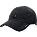 Front view of Men's adidas adiZero Primeknit Adjustable Hat in Black