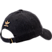 Back view of Women's adidas Originals Relaxed Plus Denim Strapback Hat in Black Denim/Gold