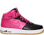 Girls' Grade School Nike Air Force 1 Mid Basketball Shoes