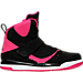 Right view of Girls' Preschool Jordan Flight 45 High Basketball Shoes in 008