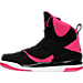 Left view of Girls' Preschool Jordan Flight 45 High Basketball Shoes in 008