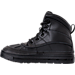 Left view of Boys' Preschool Nike Woodside 2 High Boots in Black/Black