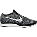 Right view of Unisex Nike Flyknit Racer Running Shoes in Black/White