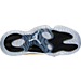Bottom view of Boys' Grade School Air Jordan Retro 11 Low Basketball Shoes in White/Metallic Gold Coin