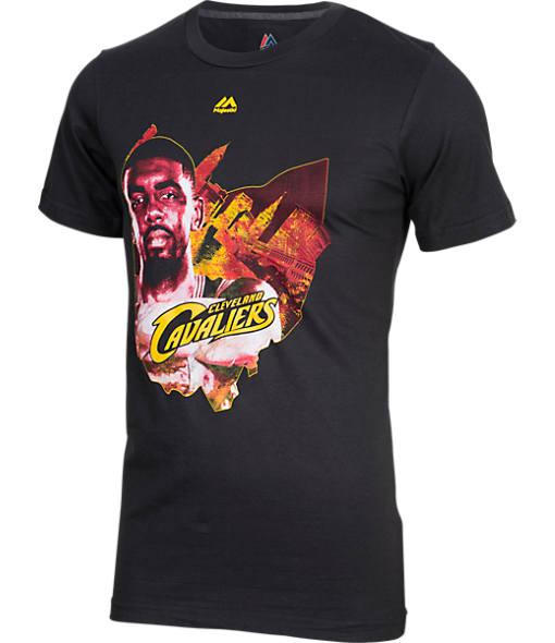 Men's Majestic Cleveland Cavaliers NBA Kyrie Irving Fan Favorite T-Shirt