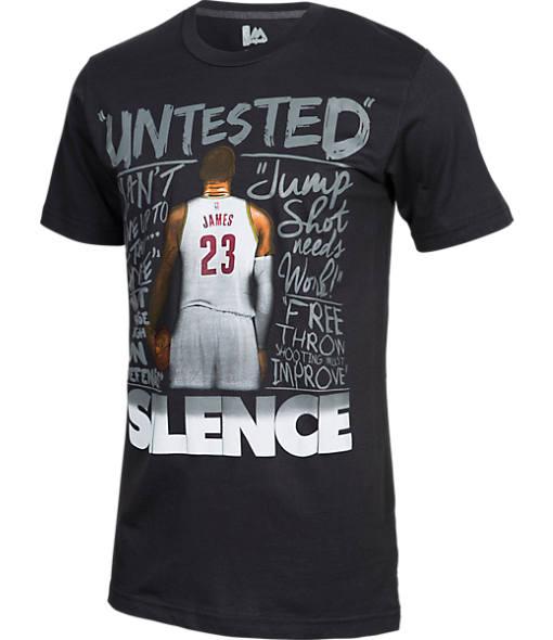 Men's Majestic Cleveland Cavaliers NBA LeBron James Silence the Critics T-Shirt