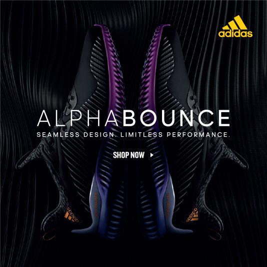 Adidas Alpha Bounce. Shop Now.