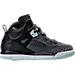 Right view of Girls' Preschool Jordan Spizike Basketball Shoes in Black/Mint Foam/Dark Grey