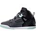 Left view of Girls' Preschool Jordan Spizike Basketball Shoes in Black/Mint Foam/Dark Grey