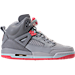 Right view of Girls' Grade School Jordan Spizike (3.5y - 9.5y) Basketball Shoes in Wolf Grey/Sunblush/Pure Platinum