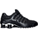 Right view of Men's Nike Shox NZ PRM Running Shoes in Black/Chrome