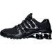 Left view of Men's Nike Shox NZ PRM Running Shoes in Black/Chrome