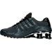 Left view of Men's Nike Shox NZ PRM Running Shoes in Anthracite/Black/Black/Cool Grey