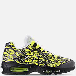 나이키 맨 Mens Nike Air Max 95 Premium Casual Shoes,Black/Volt/Ash White