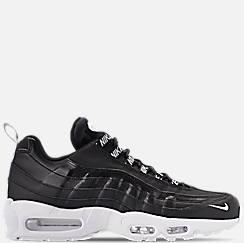 나이키 맨 Mens Nike Air Max 95 Premium Casual Shoes,Black/White