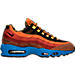 Right view of Men's Nike Air Max 95 Premium Running Shoes in Dark Cayenne/Black/Rust Factor