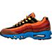 Left view of Men's Nike Air Max 95 Premium Running Shoes in Dark Cayenne/Black/Rust Factor